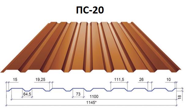 Профнастил стеновой ПС-20