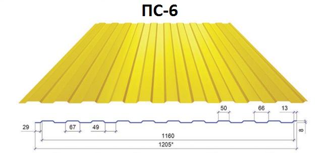 Профнастил стеновой ПС-6