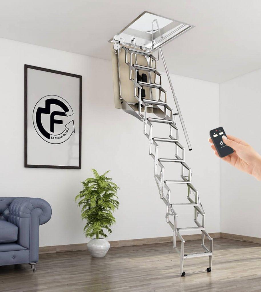 Чердачная лестница металл
