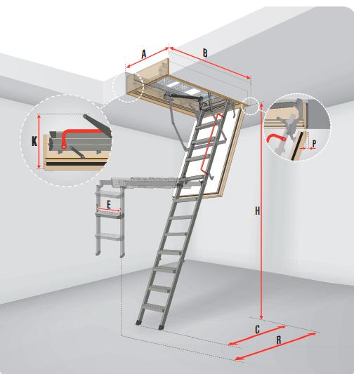 Чердачная лестница Fakro складная