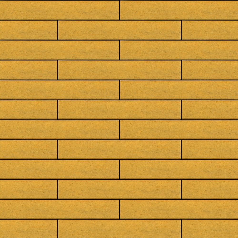 Вентилируемый навесной фасад желтый