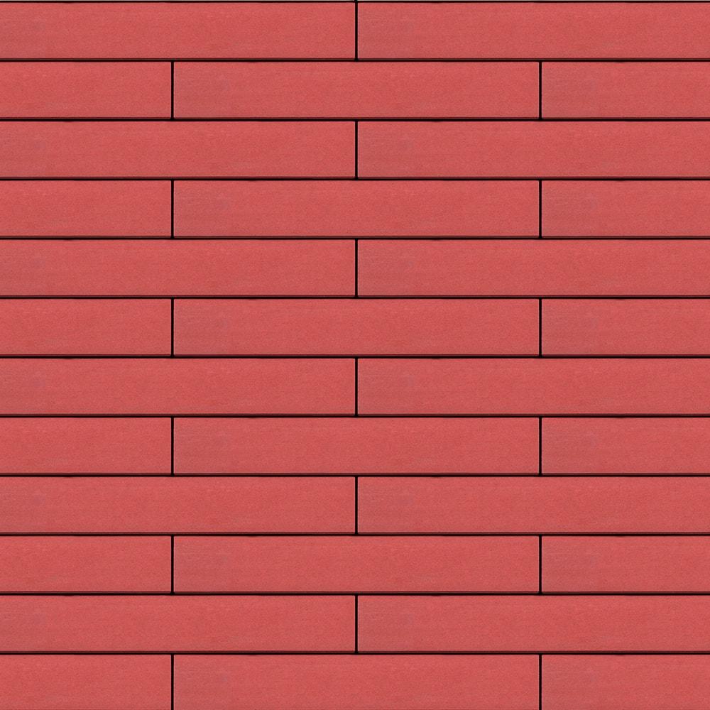 Вентилируемый навесной фасад красный