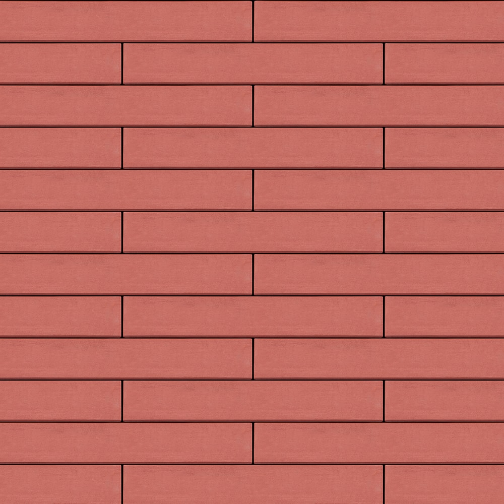 Вентилируемый навесной фасад светло-красный
