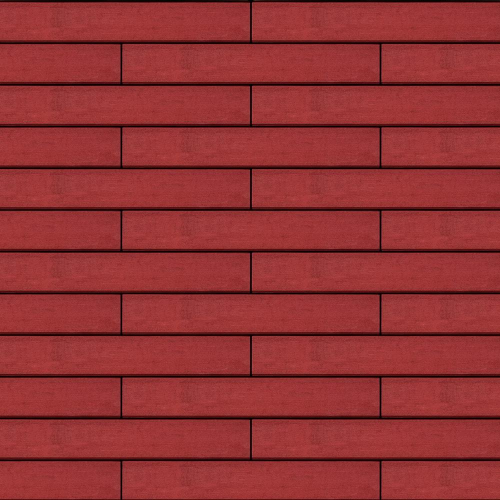 Вентилируемый навесной фасад темно-красный
