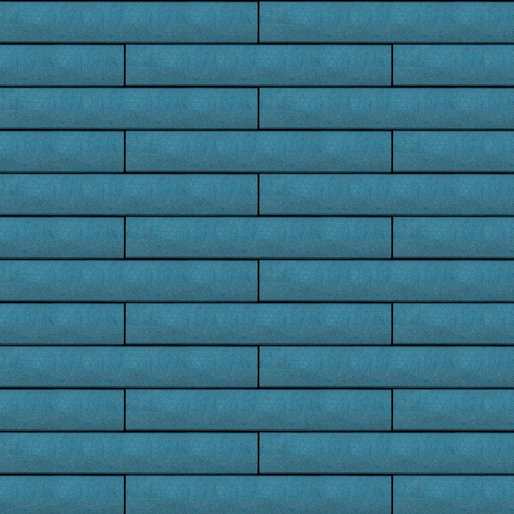 Вентилируемый навесной фасад синий