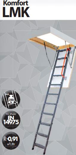 Металлическая чердачная лестница Fakro LMK