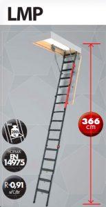 Металлическая чердачная лестница Fakro LMP