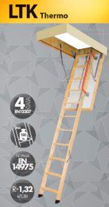 Деревянная чердачная лестница Fakro Thermo