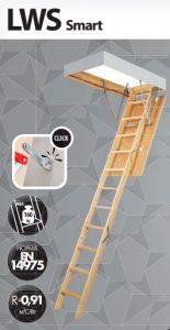 Деревянная чердачная лестница Fakro Smart