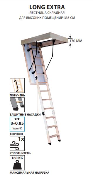 Чердачная лестница Oman Long Extra