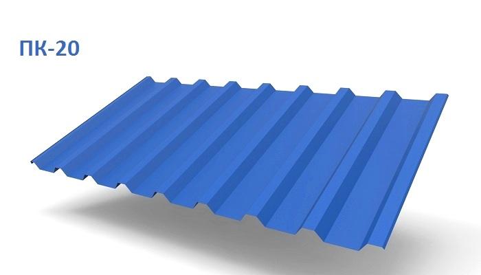 Профнастил пк-20 полимер 0.4мм